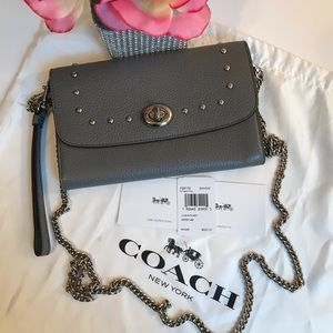 COACH CROSSBODY CHAIN WITH LACQUER RIVETS